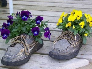 Recycled Shoes Planter Craft