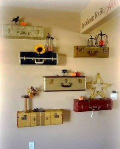 Recycled Suite Cases Decor