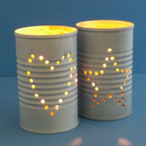 Recycled Tin Cans Home Decor