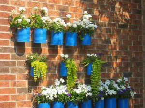 Recycled Tin Cans Wall Decor