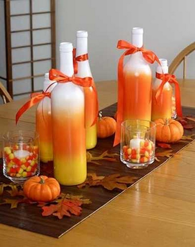 Recycling Glass Bottles for Decor