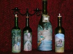 Reuse Blue Glass Bottles Decor