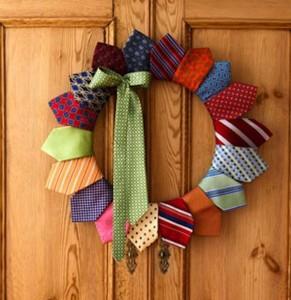 Upcycled Neck Tie Wreath