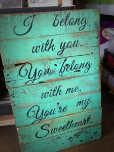 Upcycled Pallet Sign Board