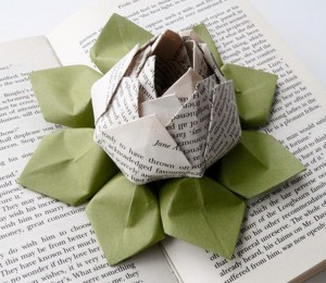 Upcycled Paper Flower for Decor