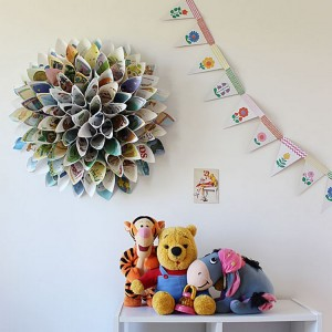 Upcycled Paper Wreath for Wall Decor