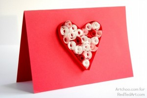 Valentines Day Heart Card