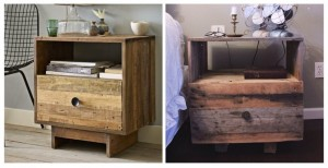 Wooden Pallet DIY Nightstand