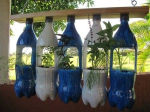 DIY Recycled Plastic Bottles for Garden Decor