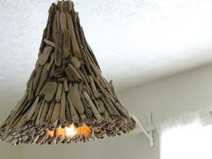 Driftwood Light Holder