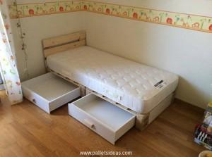 Pallet Kids Bed With Storage