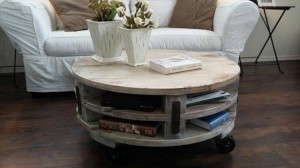 DIY Pallet Round Coffee Table Plans