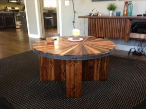 Pallet Round Topped Coffee Table