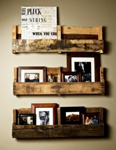Pallet Shelves with Wall Decir