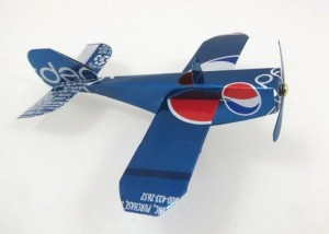 Recycled Aluminum Can Toy Airplane
