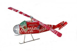 Recycled Aluminum Can Toy Helicopter
