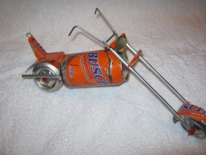 Recycled Aluminum Can Toy Motorbike