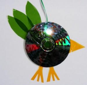 Recycled CD Bird