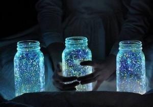 Recycled Glass Jars Fairy Glow