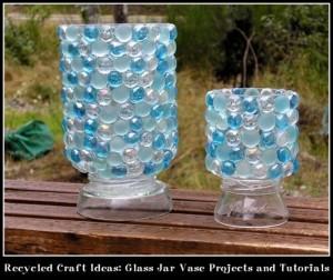 Recycled Glass Jars Idea