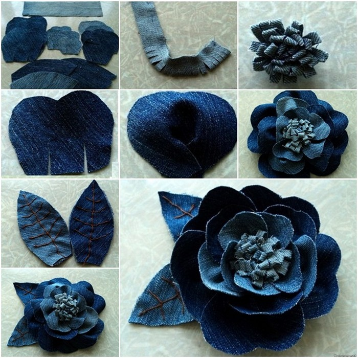Recycled Jeans Rose