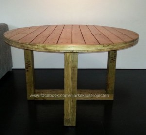 Recycled Pallet Round Coffee Table