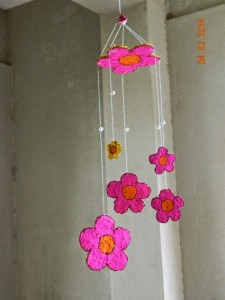 Recycled Paper Flowers Wind Chime
