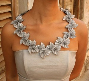Recycled Paper Neckalce