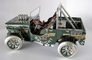 Recycled Tin Can Car for Kids