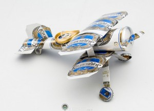 Recycled Tin Can Toy Airplane