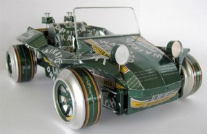 Recycled Tin Can Toy Car