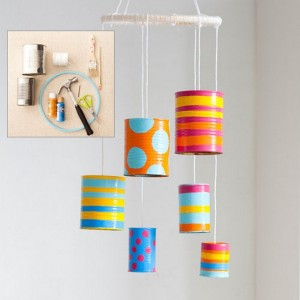 Recycled Tin Cans Wind Chime