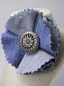Recycled jeans Flower