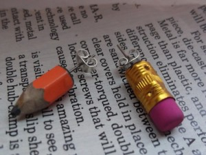 Upcycled Pencil Earrings