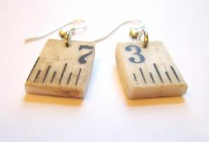 Upcycled Ruler Earrings