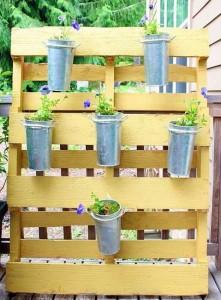 Wood Pallet Garden Decoration Planter