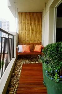 Balcony Decor with Swing