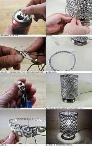 DIY Tin Can Top Lamp