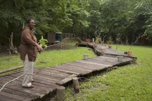 Garden Wood Walkway Idea