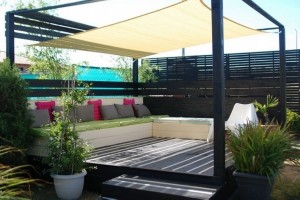 Pallet Deck with Canopy