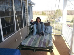 Pallet Made Swing Bed