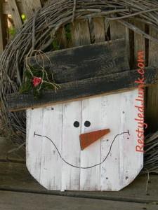 Pallet Snowman Head