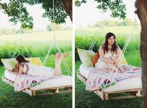 Pallet Swing Bed Ideas