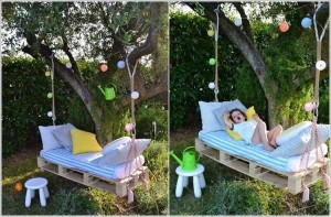 Pallet Swing Bed for Kids