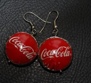 Recycled Bottle Caps Earrings
