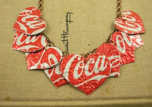 Recycled Tin Can Necklace