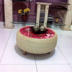 Reuse Tire Coffee Table
