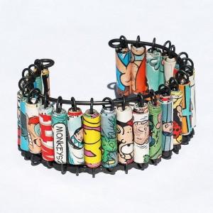 Upcycled Papet Beads Bracelet