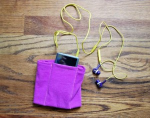 Upcycled T-Shits ipod Pouch