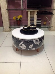 Upcycled Tire Coffee Table